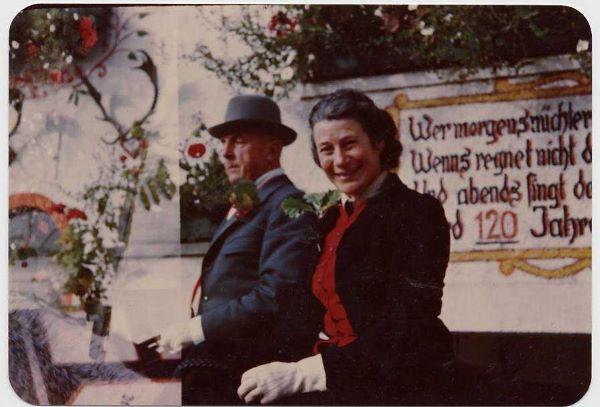 Foto von Felix und Herta von Rettershof