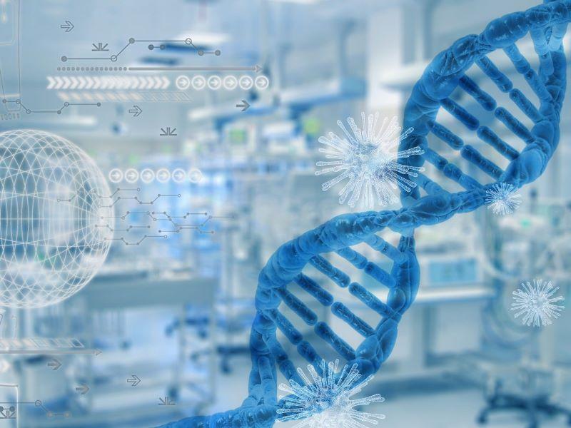 Abbildung DNA Strang des Corona Virus